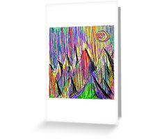 Colour Falls - Matt Texture 6 Greeting Card