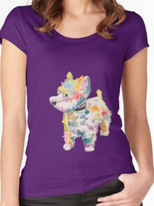 Riley (a dog of new york) Women's Fitted Scoop T-Shirt