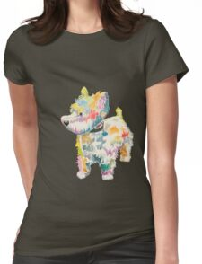 Riley (a dog of new york) Womens Fitted T-Shirt