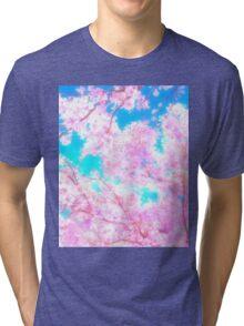 Cherry Blossom Sakura Tree Tri-blend T-Shirt