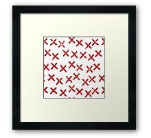 Pattern with crosses Framed Print