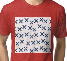 Pattern with crosses Tri-blend T-Shirt