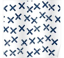 Pattern with crosses Poster