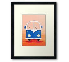 Blue bus Framed Print