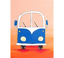 Blue bus Photographic Print