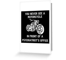 Motorcycle (Psychiatrist's Office) Greeting Card