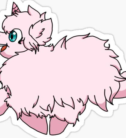 Pink Fluffy Unicorns Dancing on Rainbows Feat. Flufflepuff Sticker