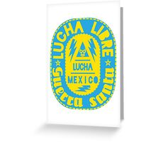 LUCHA-MEXICO dos Greeting Card