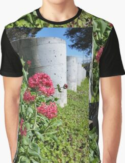 Flowers by Concrete Barriers Graphic T-Shirt