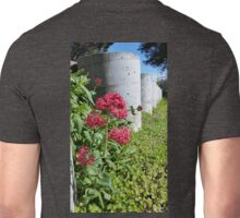 Flowers by Concrete Barriers Unisex T-Shirt