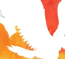 Watercolor Hawk Sticker