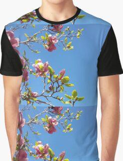 Side Magnolias Graphic T-Shirt