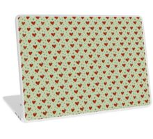 Watercolor hearts on light background Laptop Skin