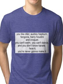 I'm Not Okay speech Tri-blend T-Shirt