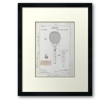Tennis Racket Patent Drawing Framed Print
