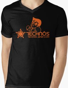 Technos Japan Kunio Mens V-Neck T-Shirt