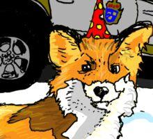 Fox n cops Sticker