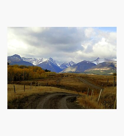 A Road to the Mountains Photographic Print