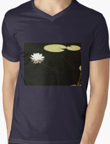 Water Lily Mens V-Neck T-Shirt