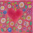 Pink Floral Heart Design by drawcard