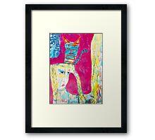 Yoga Cat Framed Print