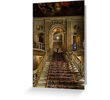 Chatsworth house-Stairs Greeting Card