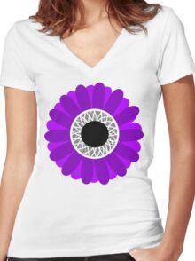 Ace Sunflower Women's Fitted V-Neck T-Shirt