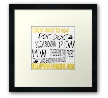 Vietnam Flash Back Causes and How to Avoid Them  Framed Print