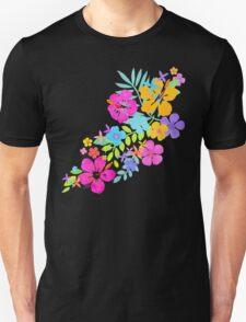 Tropical Watercolor Flowers  Unisex T-Shirt
