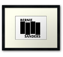 Bernie Sanders Black Flag Framed Print