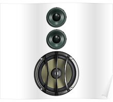 Massive Sound Bass Music Speaker Tee - White Cell Phone Cover Poster