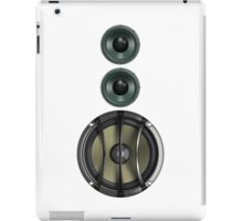 Massive Sound Bass Music Speaker Tee - White Cell Phone Cover iPad Case/Skin