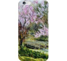 Plum Blossoms Japanese Garden  iPhone Case/Skin
