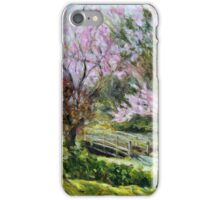 Plum Blossoms Japanese Garden  iPhone Case/Skin