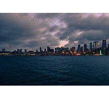 Bainbridge Island ferry, Seattle, Washington Photographic Print