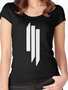 Skrillex - ill - White on Black Women's Fitted Scoop T-Shirt