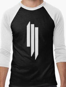 Skrillex - ill - White on Black Men's Baseball ¾ T-Shirt