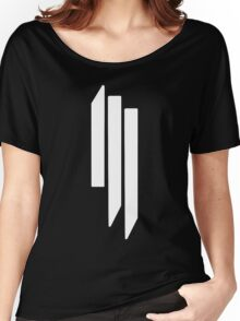 Skrillex - ill - White on Black Women's Relaxed Fit T-Shirt