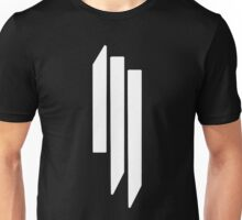 Skrillex - ill - White on Black Unisex T-Shirt