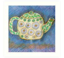 Cute Teapot with Daisy Design Art Print