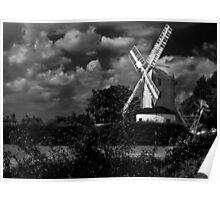 Saxtead Mill, Suffolk, England Poster