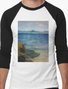 Greek island  trip to shore  Men's Baseball ¾ T-Shirt