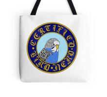 Certified Bird Nerd (budgie blue) Tote Bag