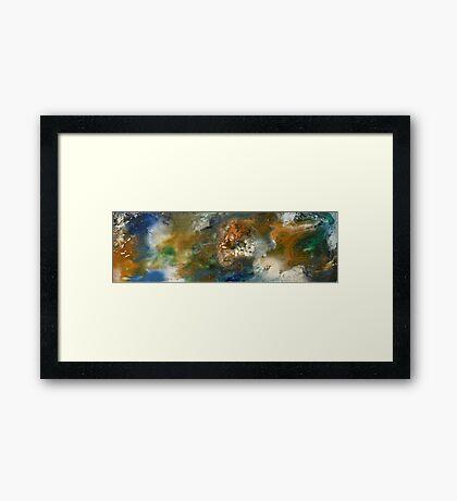 Tides Of Color 3 Framed Print