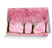 Cherry Trees - Watercolor Painting Greeting Card