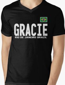 Gracie Represent [FIGHT CAMP] Mens V-Neck T-Shirt