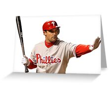 Pat Burrell of the Phillies Greeting Card