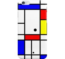 Mondrian style art iPhone Case/Skin