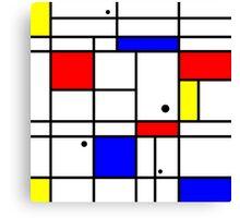 Mondrian style art Canvas Print