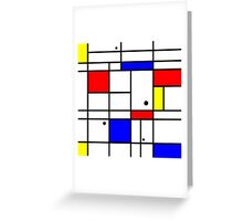 Mondrian style art Greeting Card